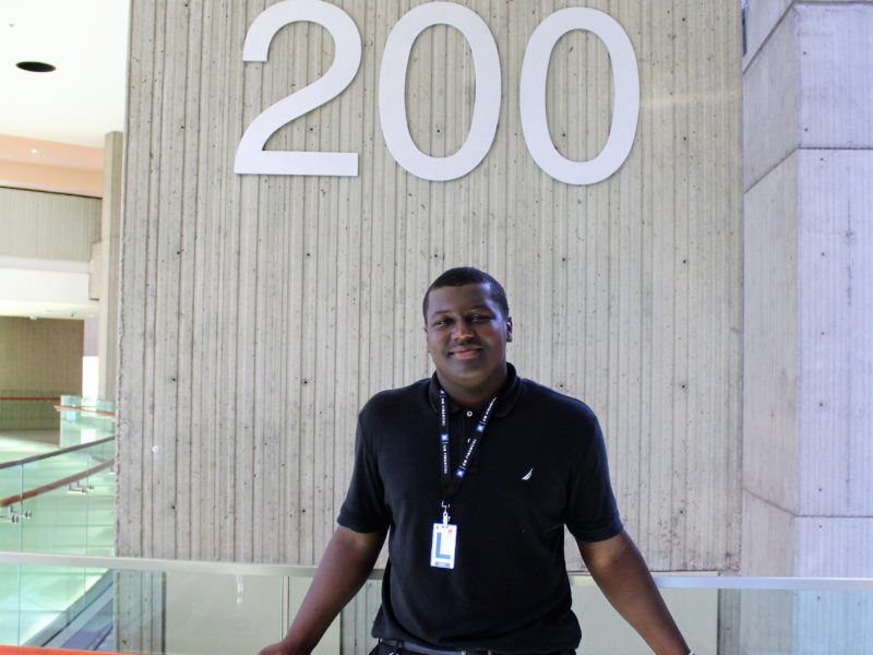 """I've learned that I am a people person. The people I work with have also helped me with my patience and I have learned to get things done in a timely manner."" Donovan Brown '19 (LWEP Placement: GM Financial)"