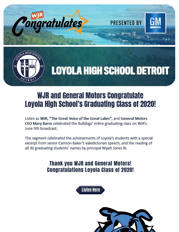 Loyola and WJR